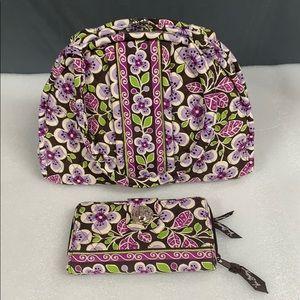 Vera Bradley Plum Petals Eloise Purse & Wallet